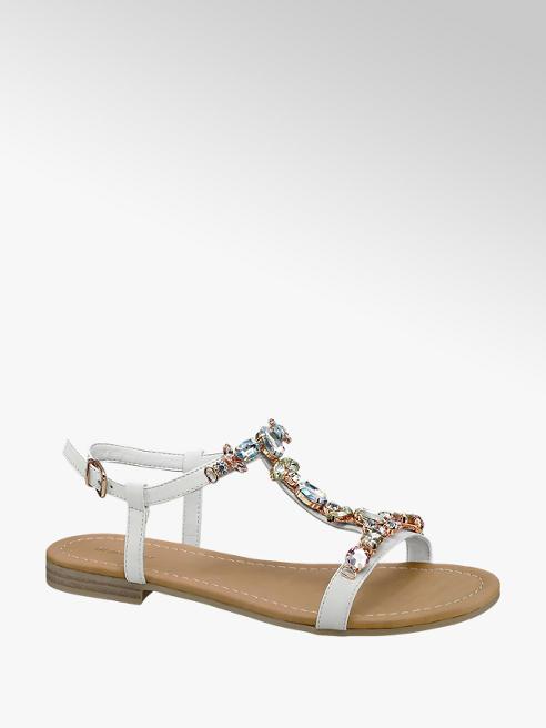 Graceland Witte sandaal kristal