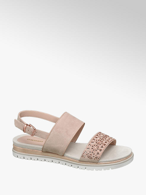 Graceland Roze sandaal perforatie