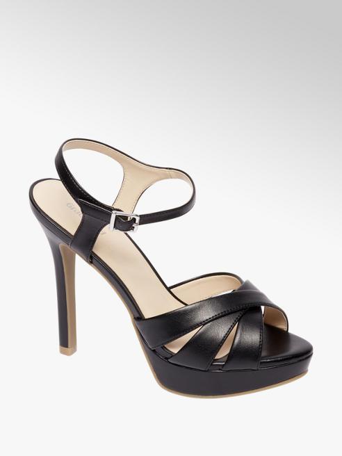Graceland Zwarte sandalette plateauzool