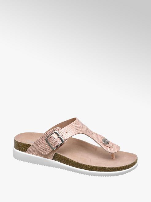 Graceland Roze sandaal slangenprint