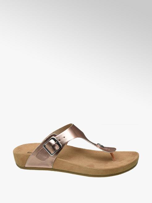 Graceland Rosé metallic sandaal