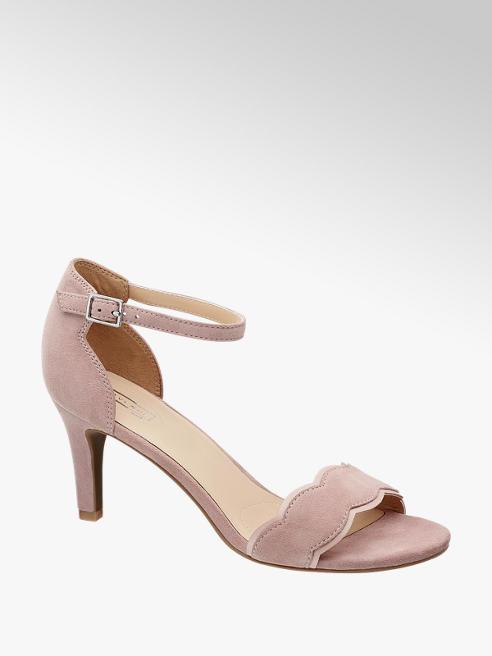 5th Avenue Licht roze suède sandalette gespsluiting