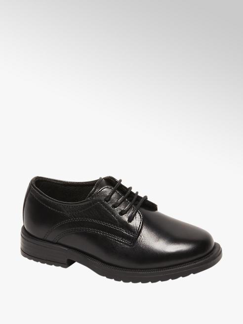 Bobbi-Shoes Zwarte leren geklede veterschoen