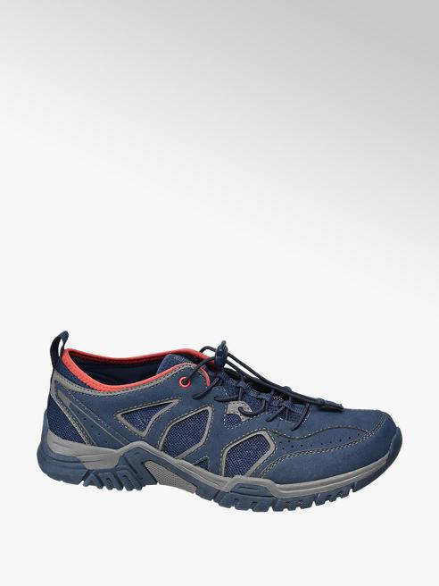 Landrover Blauwe wandelschoen elastieken veters