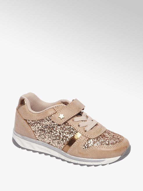 Cupcake Couture Bronze sneaker glitters