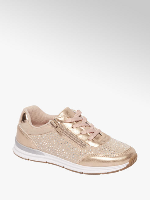 Graceland Rosé sneaker steentjes