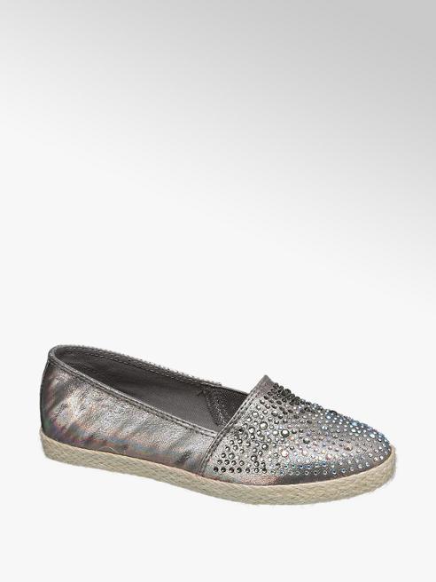 Graceland Zilveren espadrille strass