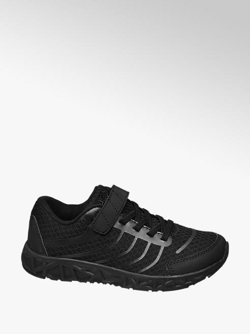 Agaxy Zwarte sneaker elastiek