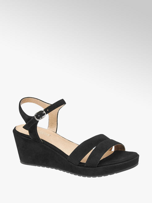 5th Avenue Zwarte suède sandalette
