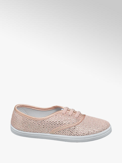 Graceland Roze sneaker metallic