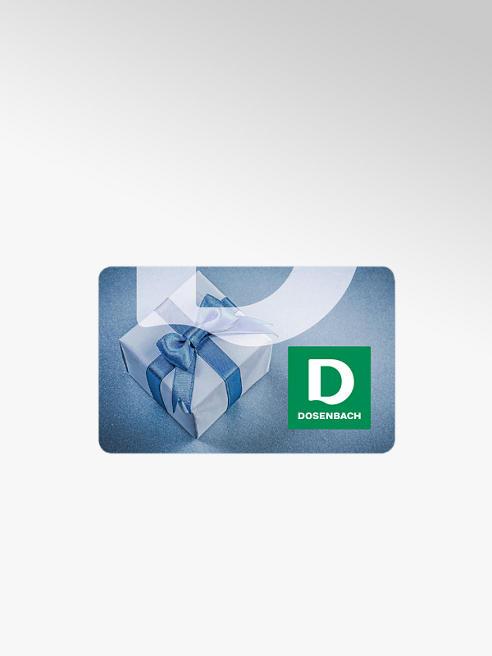 Dosenbach Geschenkkarte mit Geschenk Motiv