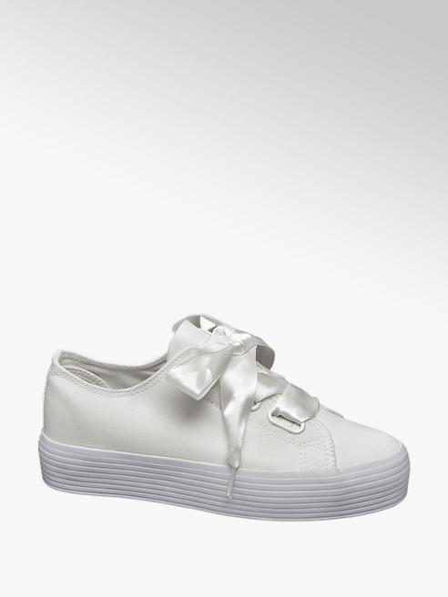Vty Witte sneaker platauzool