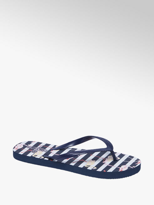 Blue Fin Blauwe teenslipper flamingo