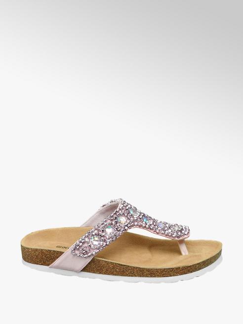 Graceland Lichroze sandaal leren voetbed
