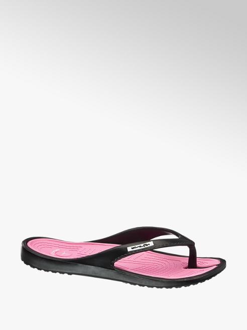 Blue Fin Zwarte slipper