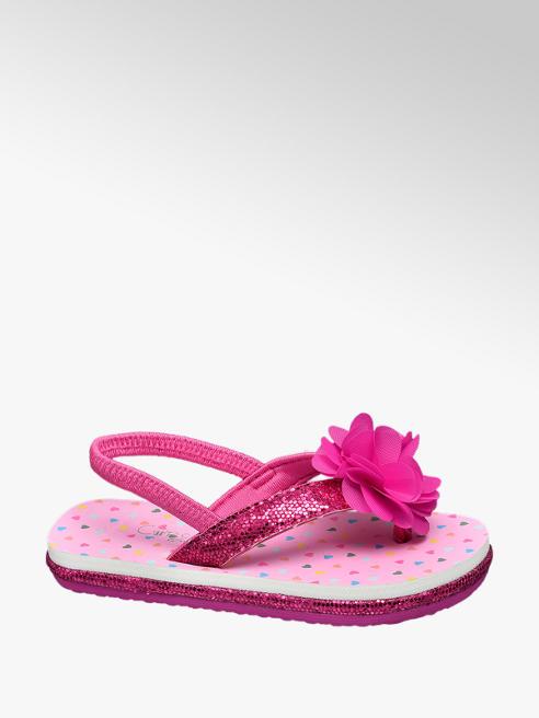 Cupcake Couture Roze teenslipper glitter