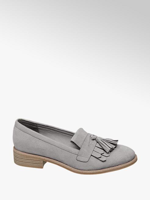 Graceland Grijze loafer franjes