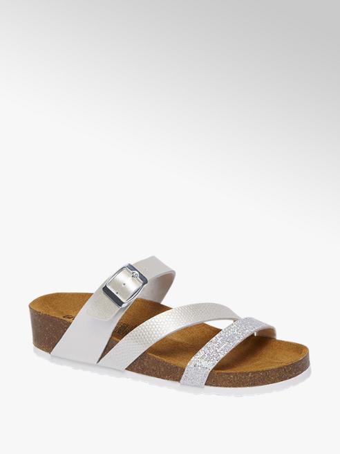 Graceland Gouden metallic sandaal leren voetbed