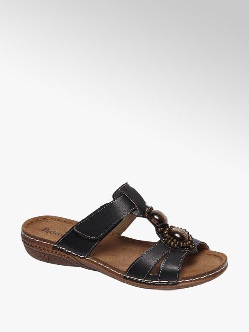 Björndal Zwarte sandaal sierstenen