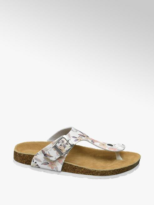 Graceland Witte sandaal bloemenprint
