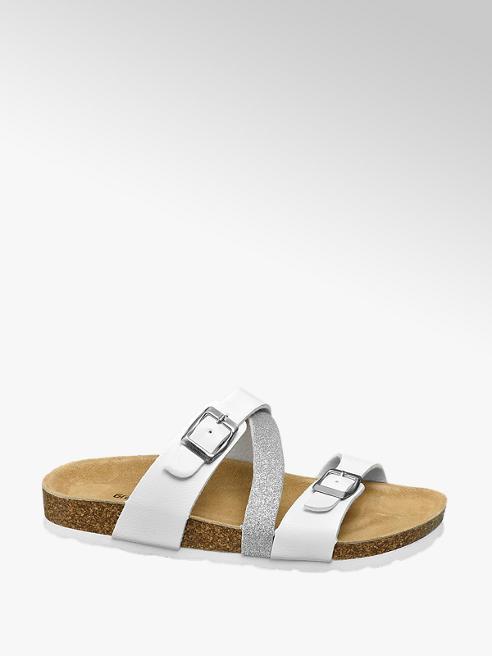 Graceland Witte sandaal leren voetbed