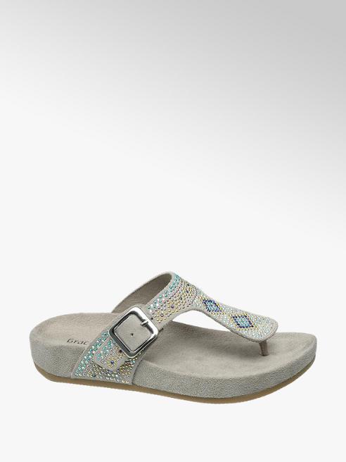 Graceland Licht grijze sandaal