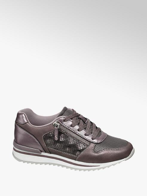 Graceland Paarse sneaker metallic