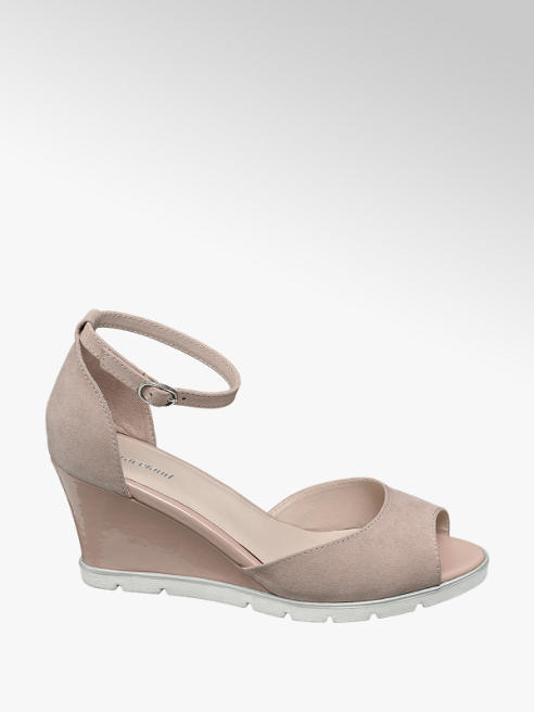 Graceland Roze sandalette lak sleehak