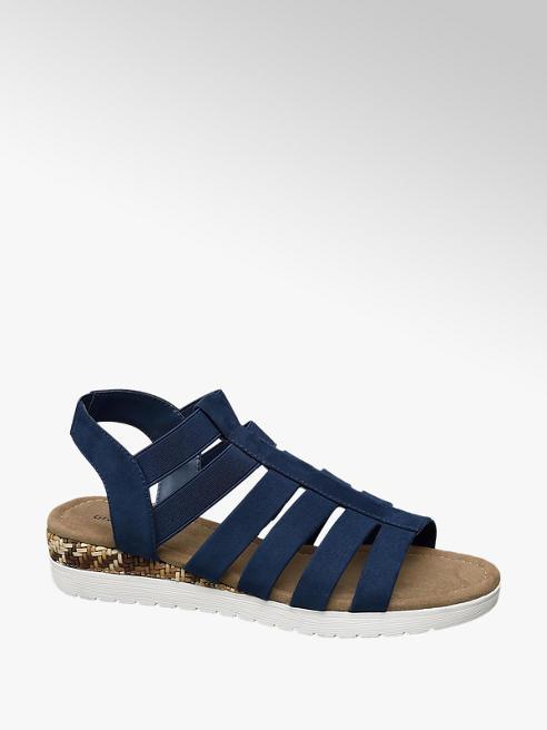 Graceland Blauwe sandaal elastiek