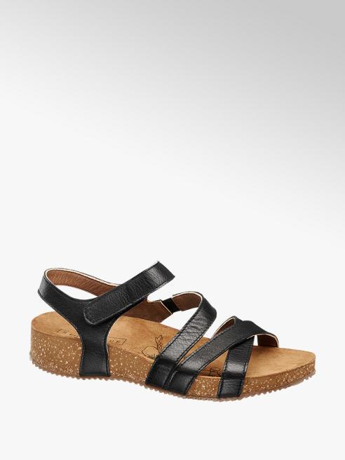 5th Avenue Zwarte sandaal leer