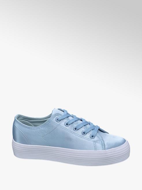 Vty Lichtblauwe sneaker satijn
