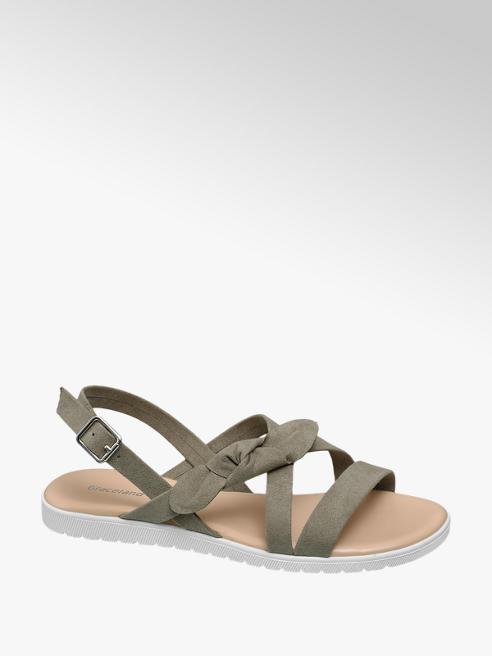 Graceland Khaki sandaal strik