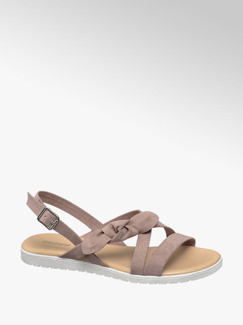 Graceland Oudroze sandaal strik