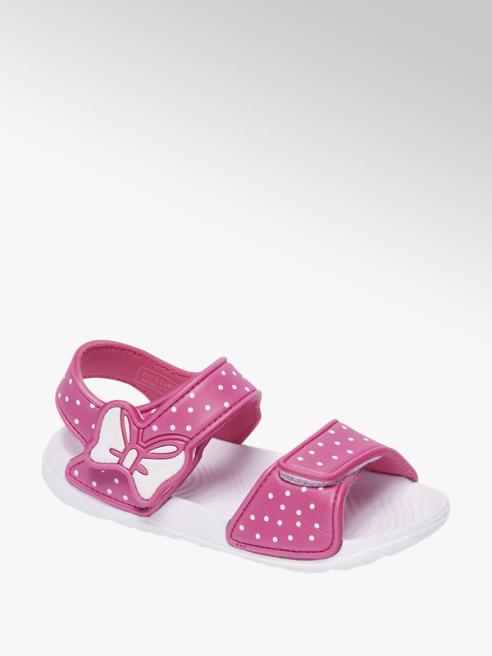 Blue Fin Roze sandaal klittenband