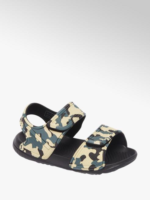 Beige sandaal camouflageprint