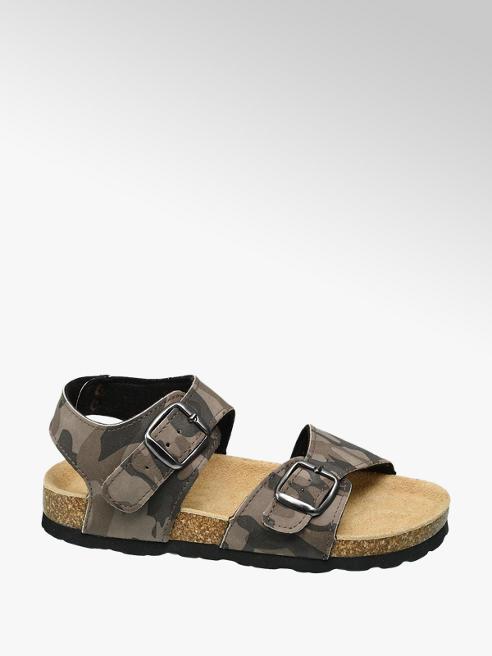 Agaxy Beige sandaal leren voetbed