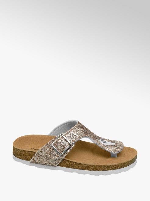Graceland Gouden sandaal met glitters