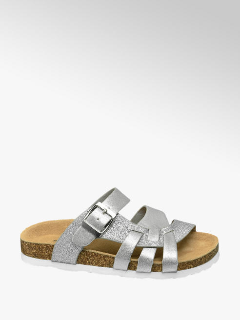 Graceland Zilveren sandaal met glitters