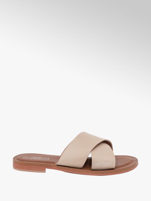 5th Avenue Leather Cross Sandal