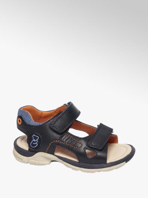 Bobbi-Shoes Blauwe leren sandaal klittenband