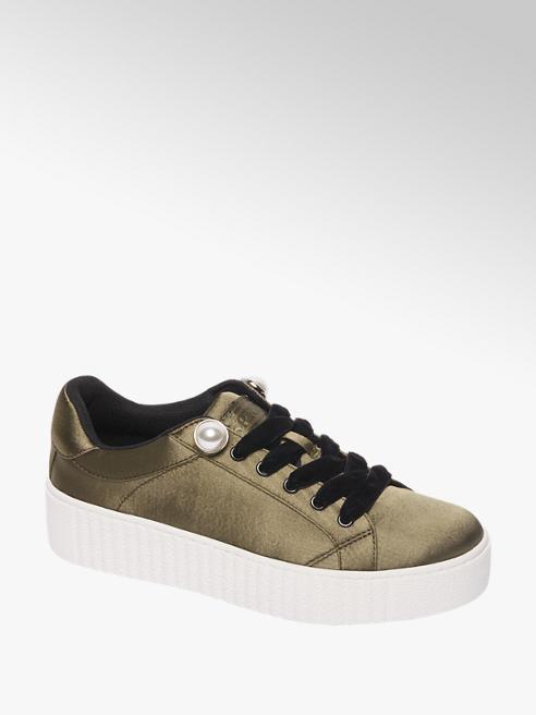 Graceland Groene sneaker plateuzool