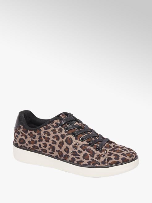 Graceland Taupe sneaker panterprint