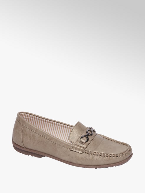 Easy Street Taupe loafer metallic