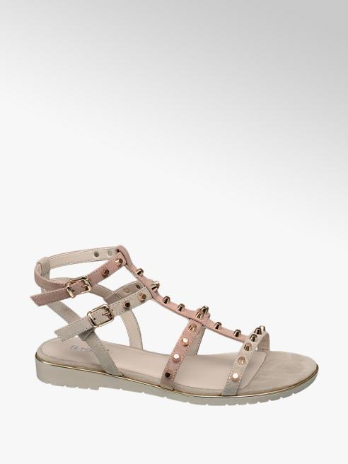 Graceland Lichtroze sandaal studs