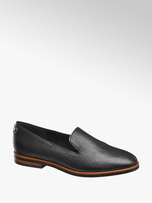 5th Avenue Zwarte leren loafer