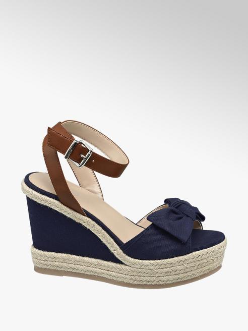 Graceland Blauwe sandalette strik