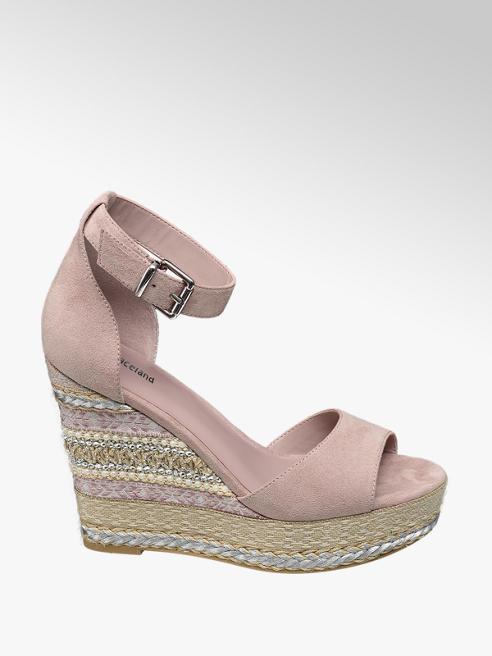 Graceland Lichtroze sandaal sleehak