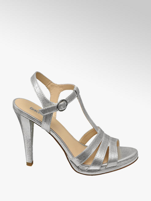 Graceland Zilveren sandalette gespsluiting