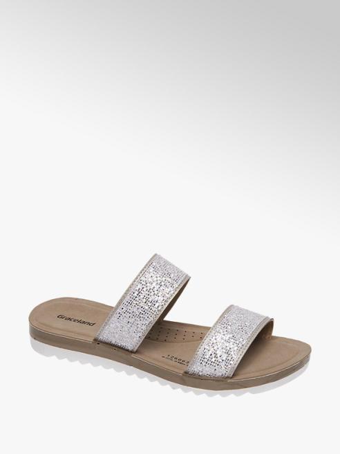 Graceland Zilveren sandaal glitters