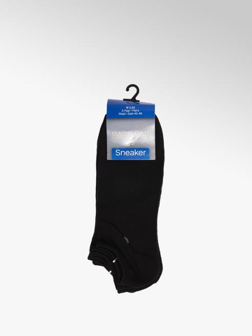 Claudio Conti Zwarte sneaker sokken mt 40-46